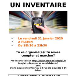 Inventaire à Plérin - 31 janvier 2020