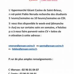 Offre d''emploi étudiants saint brieuc (22000)