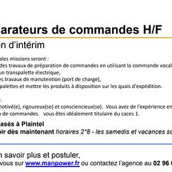 Préparateur de commandes H/F en Intérim à Plaintel