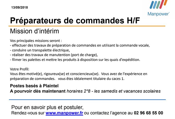 Préparateur de commandes H/F en Intérim à Plaintel 0