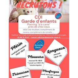 CDI - Garde d''enfants / idéal Job étudiant, complément de revenu, complément de retraite...