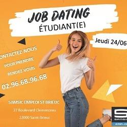 JOB DATING ETUDIANT - SAMSIC EMPLOI ST BRIEUC / 24/06/2021