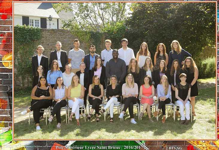 Photo de classe 2016-2017 : BTS AG2 0