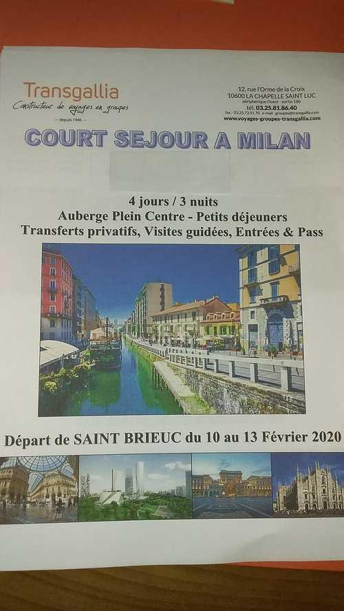 Licence Dcg St Brieuc Projetvoyage Milan février 2020 0