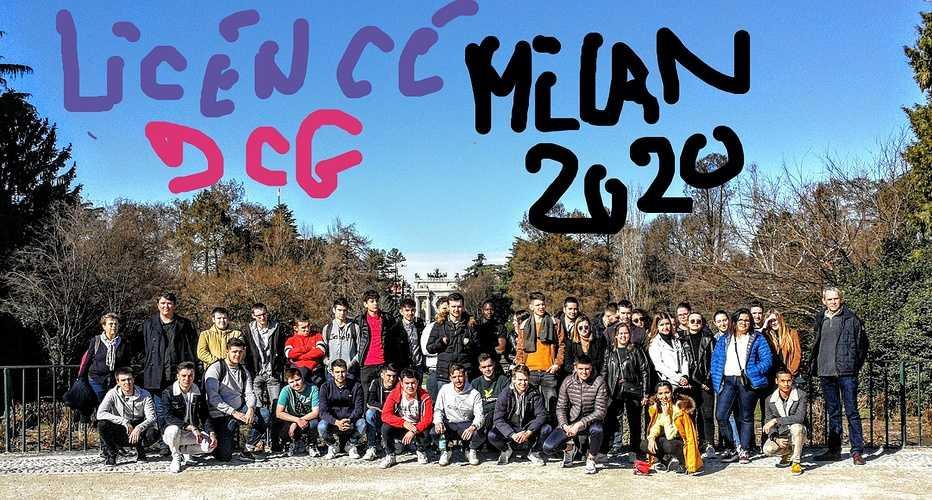 Les étudiants en DCG ST BRIEUCà Milan en février 2020 0