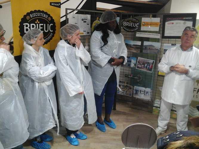 DCG2 : visite de la Biscuiterie Brieuc biscuiterie